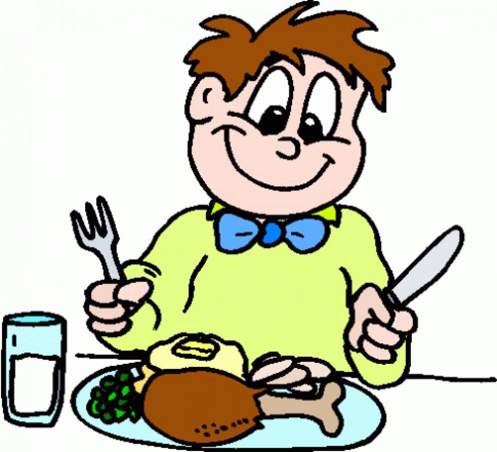 999x909 Eating Dinner Clipart