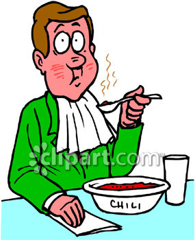 285x350 Man Eating Hot And Spicy Chili Clipart