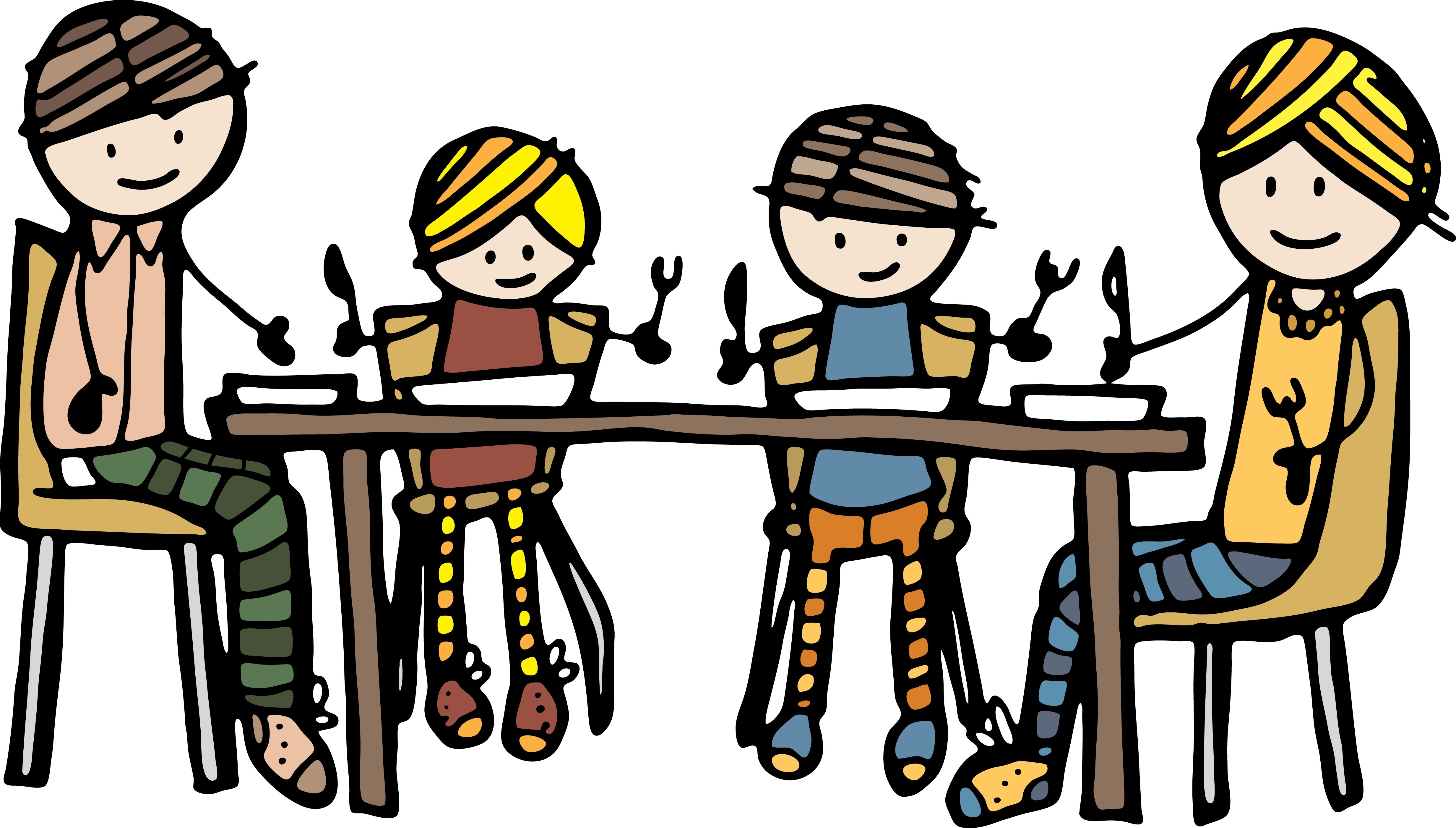 4927x2800 Family Eating Clipart 785845