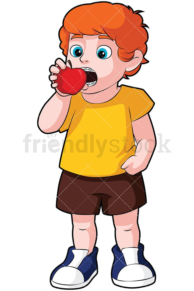 800x1200 Clip Art Eating Apple