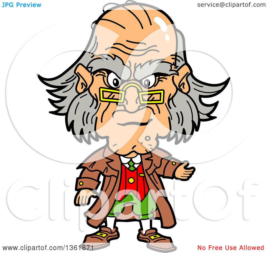1080x1024 Clipart Of A Cartoon Caricature Of Ebenezer Scrooge Being Angry