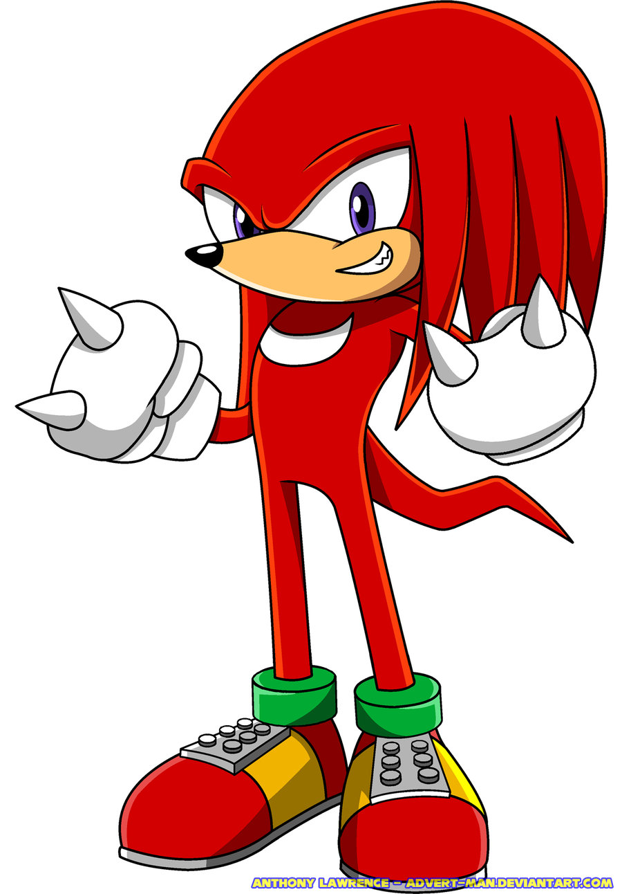 900x1292 Knuckles The Echidna Clipart