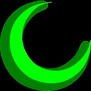 297x297 Green Crescent Clip Art Clipart Panda