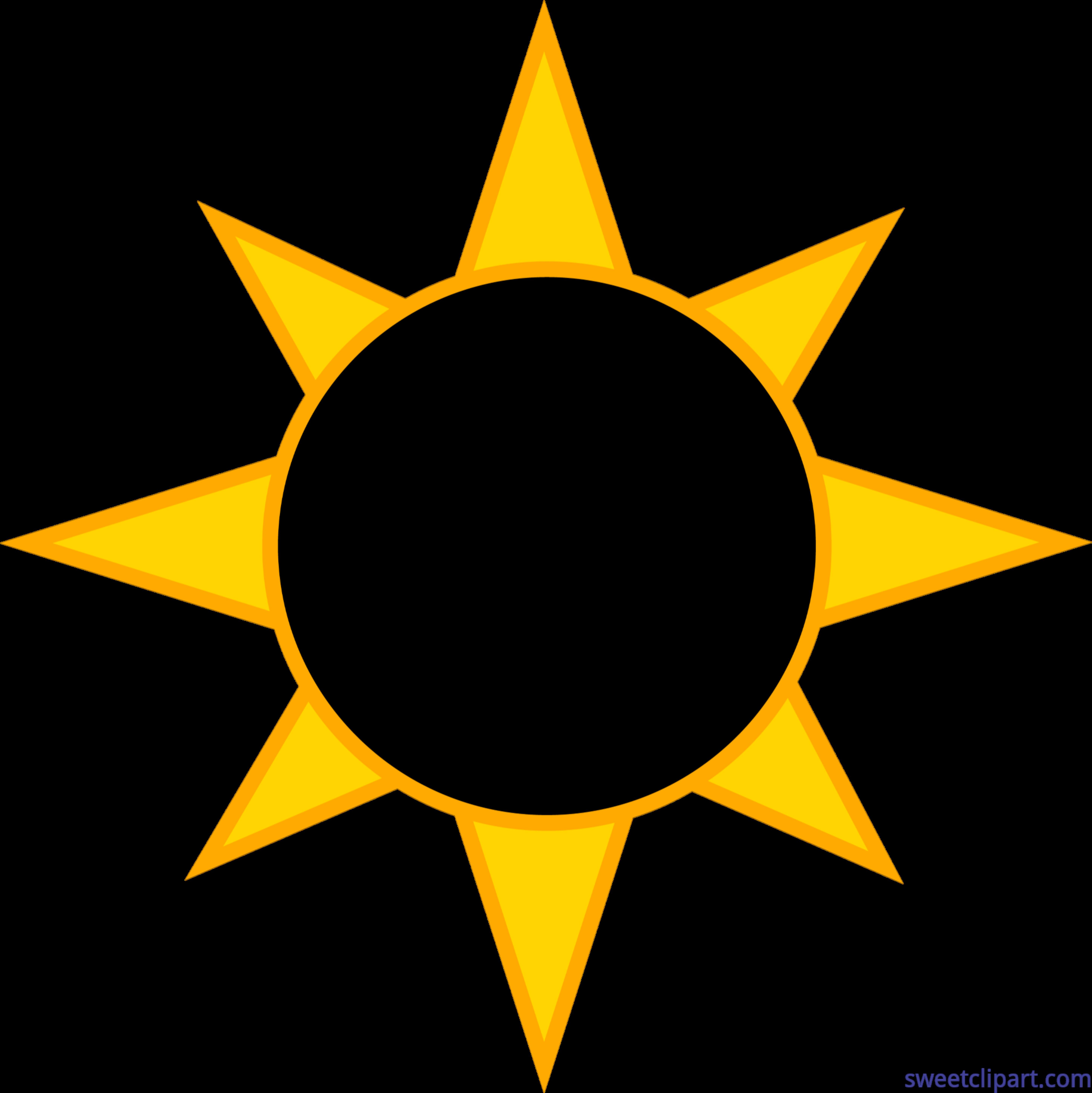 5789x5793 Solar Eclipse Sun Clip Art