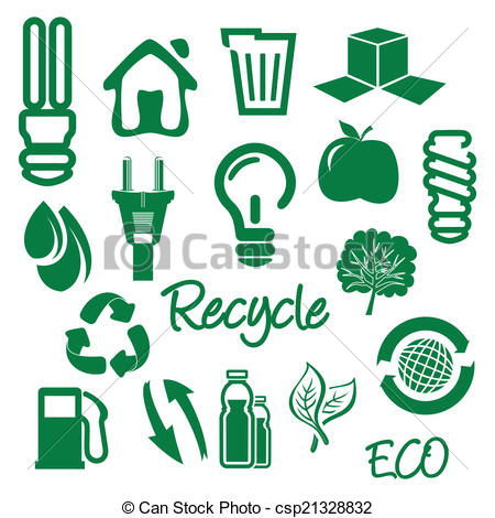 450x470 Ecology And Recycle Icons Vectors