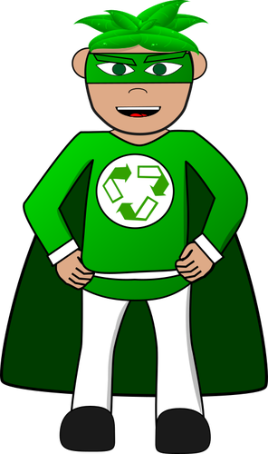 296x500 Ecology Superhero Public Domain Vectors