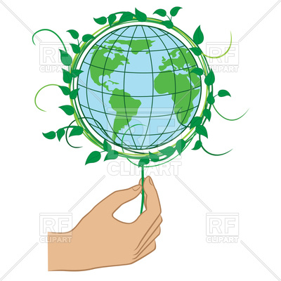 400x400 Human Hand Holding The Green Planet Earth, Ecology Concept Royalty