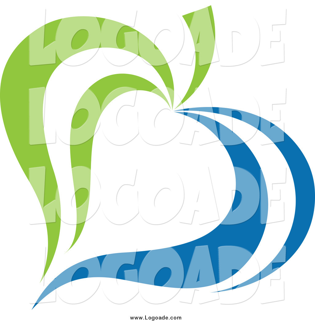 1024x1044 Clipart Of A Green And Blue Ecology Leaf Logo By Elena