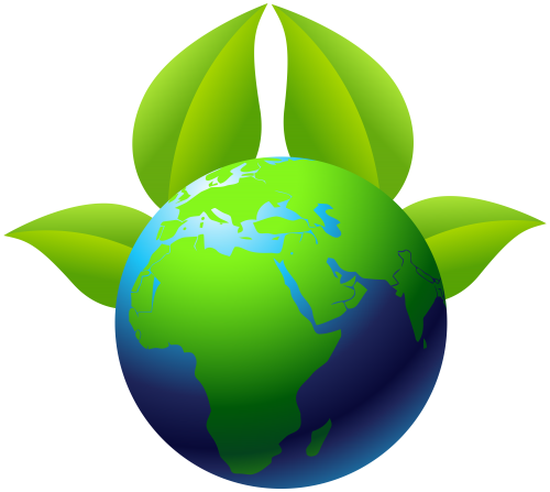 500x447 Earth With Leaves Png Clip Art