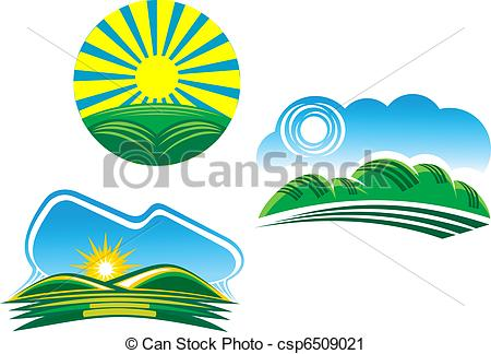 450x324 Nature Symbols. Ecological And Nature Symbols Isolated On White.