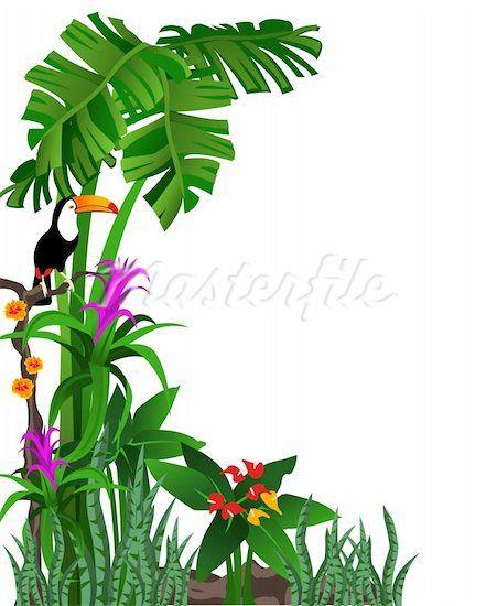 451x550 Rainforest Clipart Border