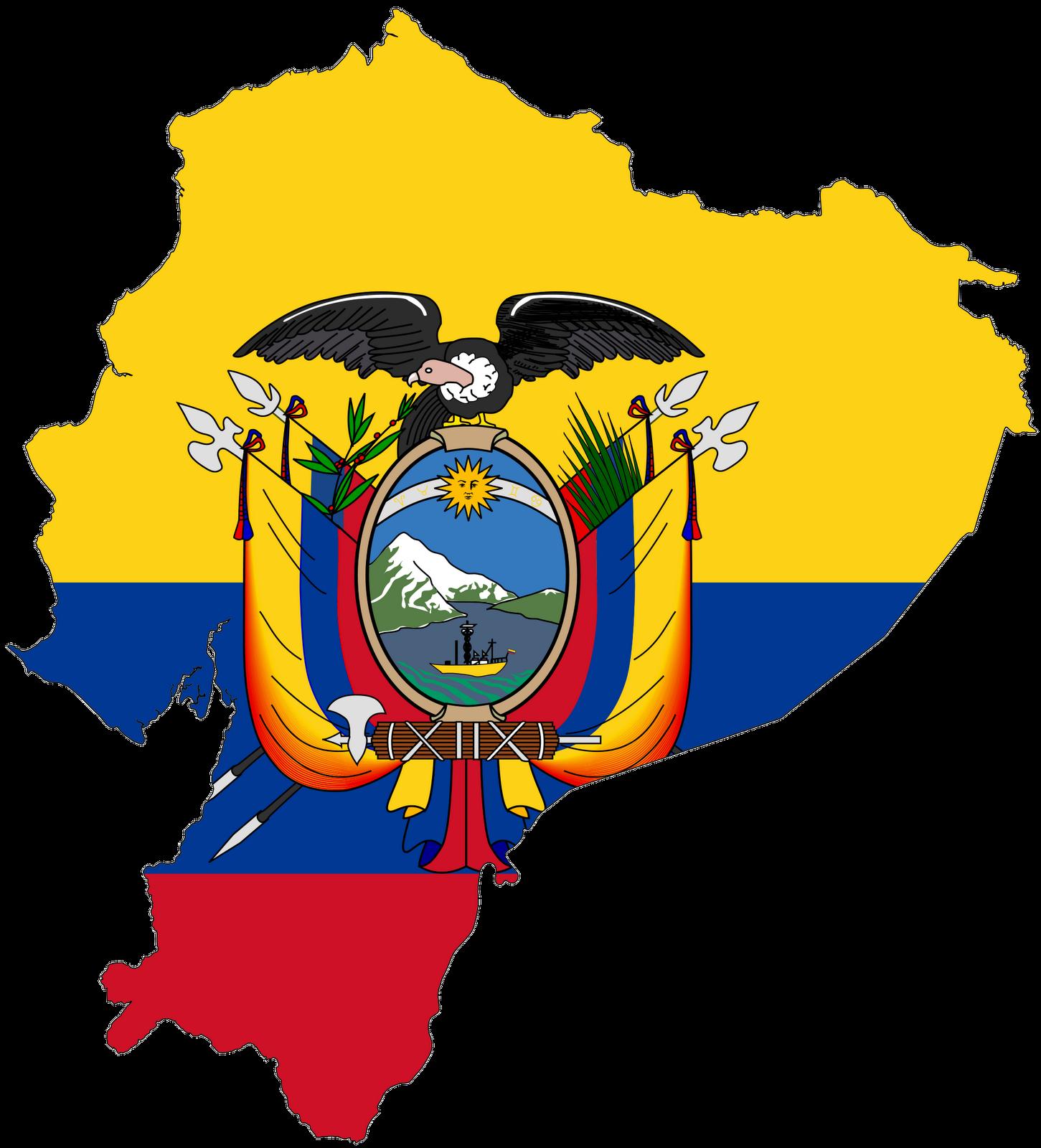 1451x1600 Ecuador Flag Vector Clip Art