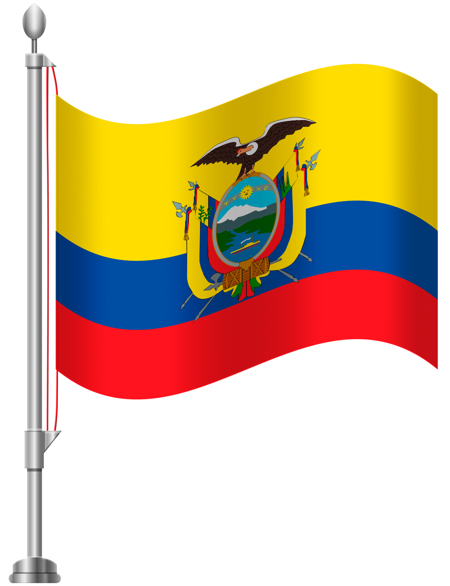 1536x2000 Ecuador Flag Png Clip Art