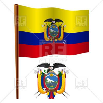 400x400 Ecuador Flag And Coat Of Arms Royalty Free Vector Clip Art Image
