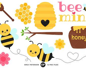 340x270 Honey Bee Clip Art Etsy