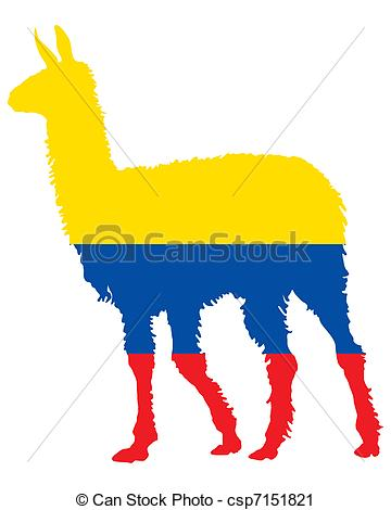 360x470 Lama Ecuador Vector Clip Art
