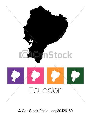 380x470 A Map Of The Country Of Ecuador Clip Art Vector