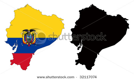 450x268 Picture Of Two Maps Of Ecuador In South America, One Painted