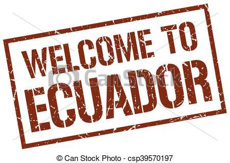 450x318 Welcome To Ecuador Stamp Eps Vectors