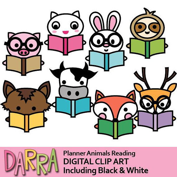 570x570 Clipart Commercial Use Animals Reading Book Clip Art Pig