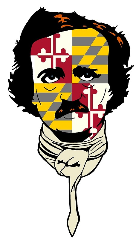 465x800 Edgar Allan Poe Flag Face Posters By Riley Benko Redbubble