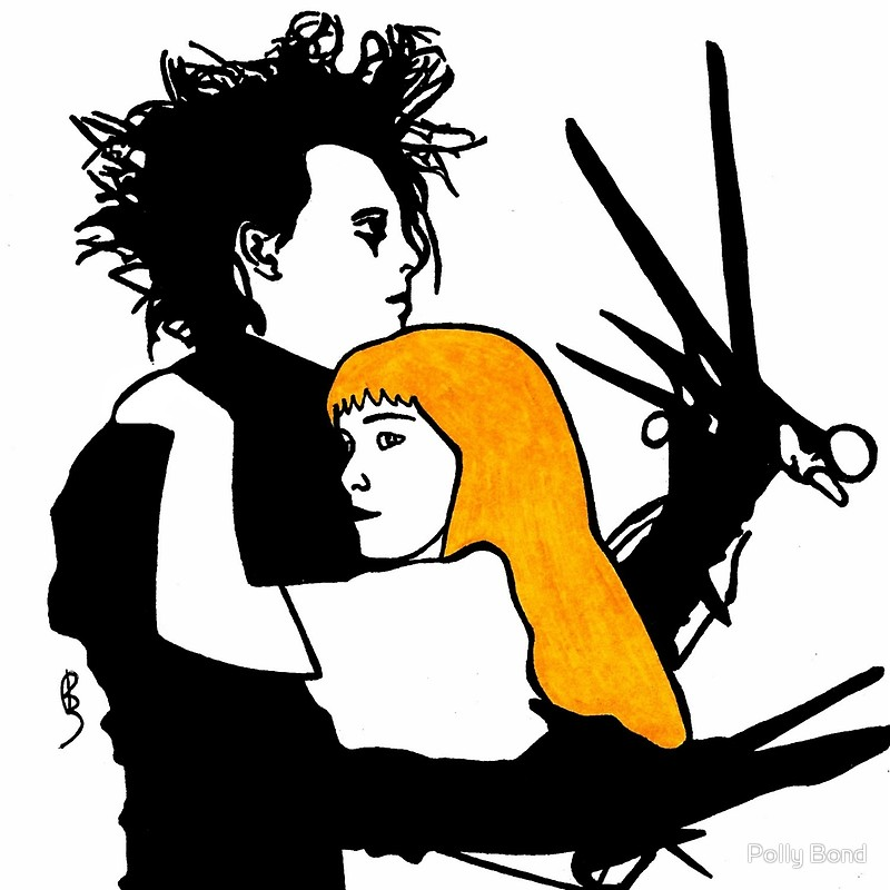 800x800 Edward Scissorhands Posters By Polly Bond Redbubble