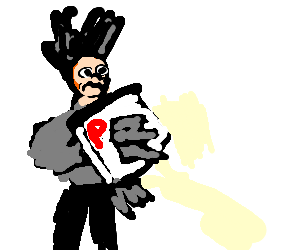 300x250 Edward Scissorhands Is A Pizza Delivery Guy (Drawing By Luigi)