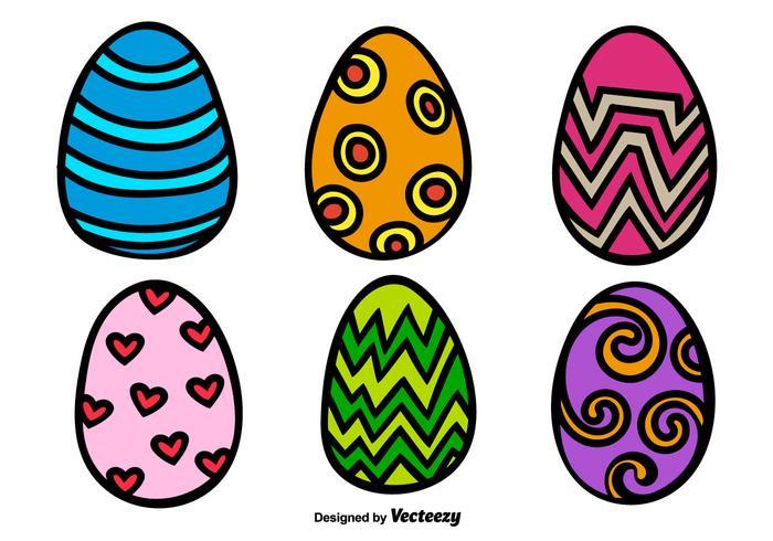 700x490 Cartoon Easter Egg Vectors
