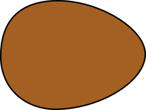299x225 Solid Brown Egg Clip Art