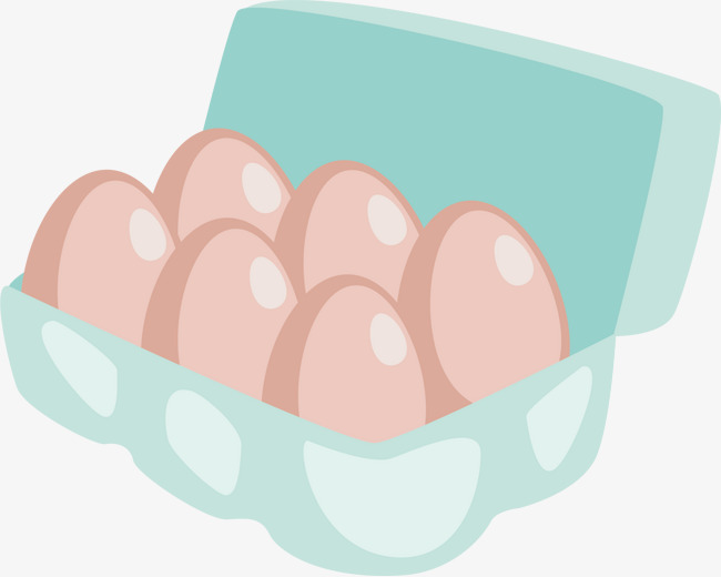 650x520 Vector Hand Painted Egg Cartons, Vector, Hand Painted, Egg Box Png