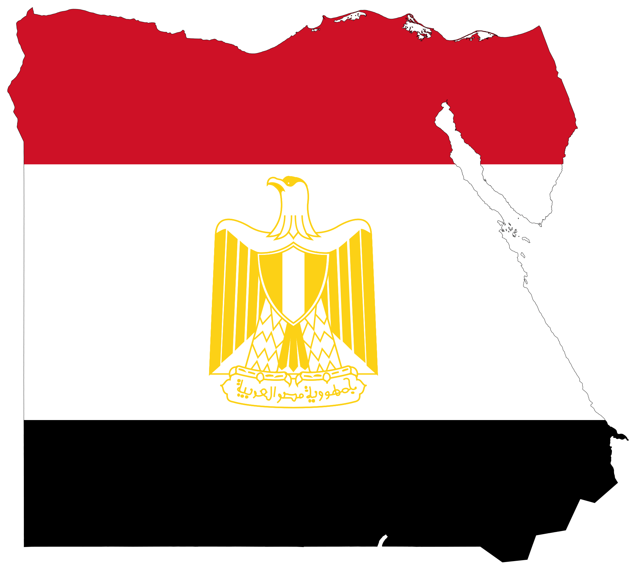 2048x1828 Egypt Flag Map