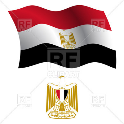 400x400 Egypt Flag And Coat Of Arms Royalty Free Vector Clip Art Image