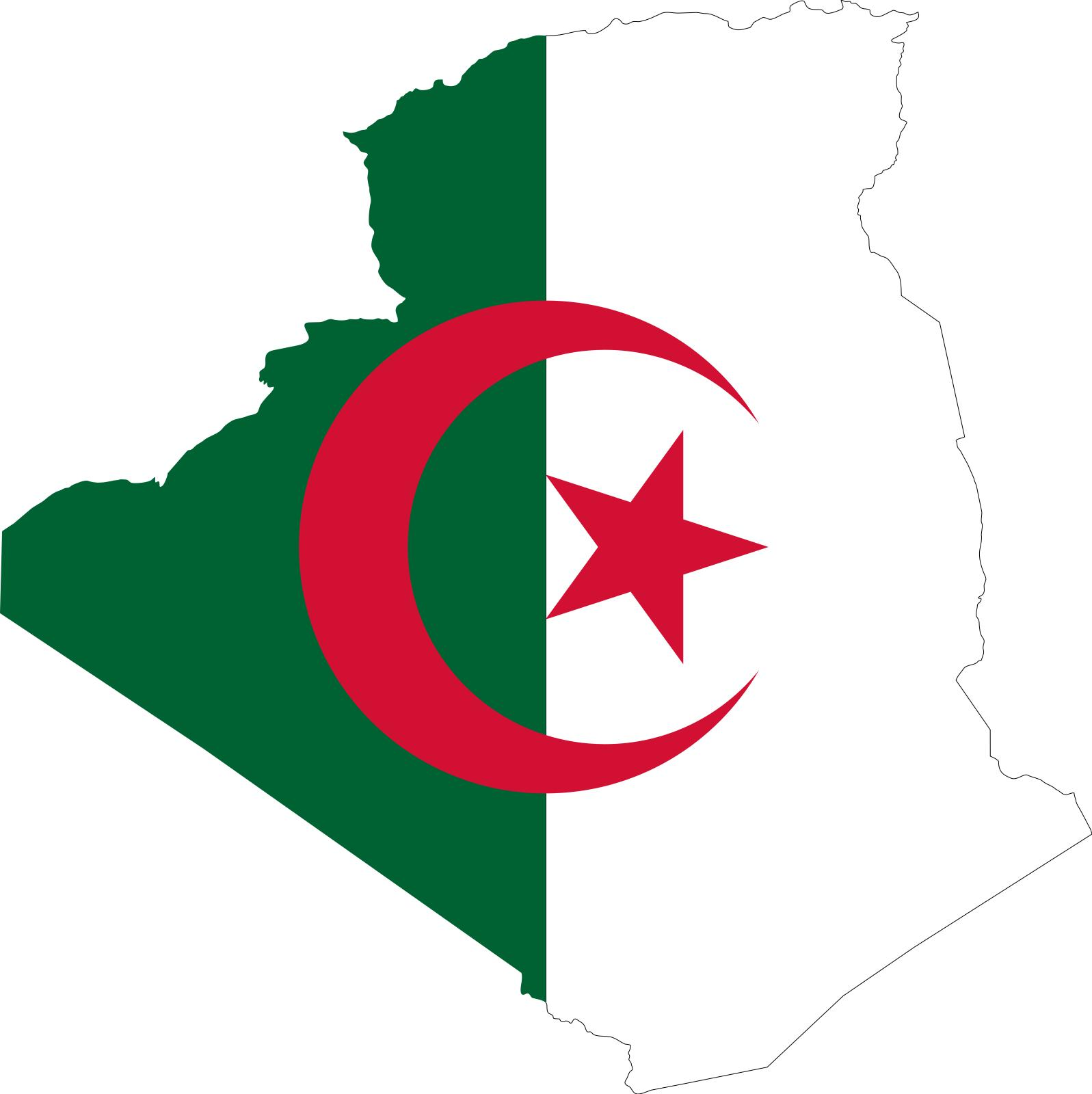 1597x1600 Algeria Flag Map Clipart
