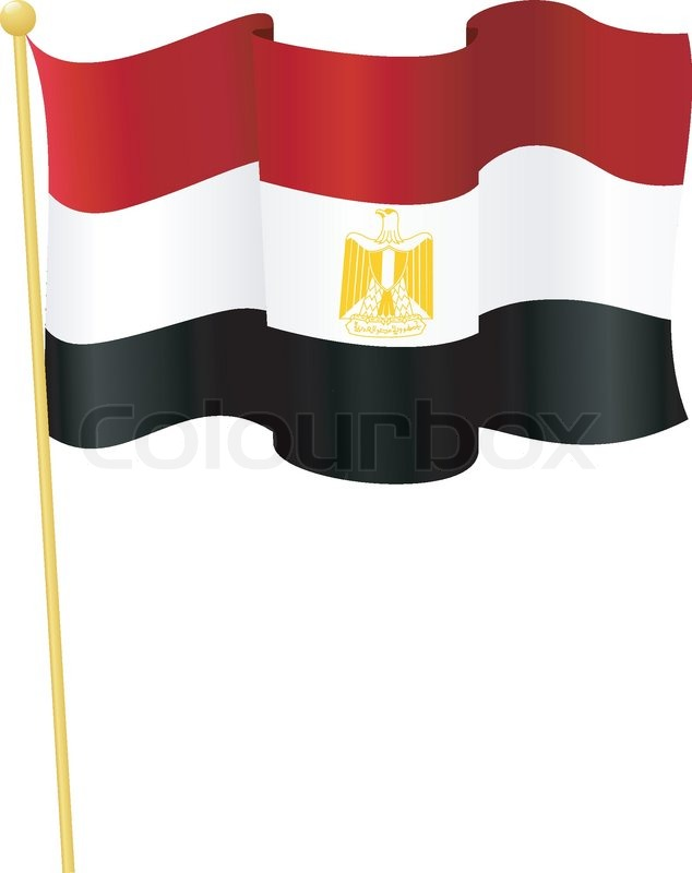 634x800 Vector Illustration Of The National Flag Of Egypt Stock Vector
