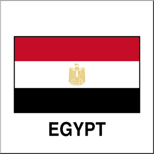 304x304 Clip Art Flags Egypt Color I Abcteach
