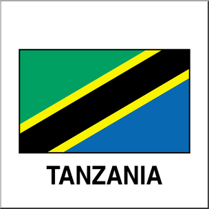 304x304 Clip Art Flags Tanzania Color I Abcteach