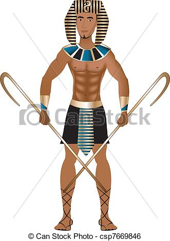 331x470 Egyptian Carnival Costume. Vector Illustration Of A Man Clip