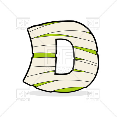 400x400 Letter D In Egyptian Style Royalty Free Vector Clip Art Image
