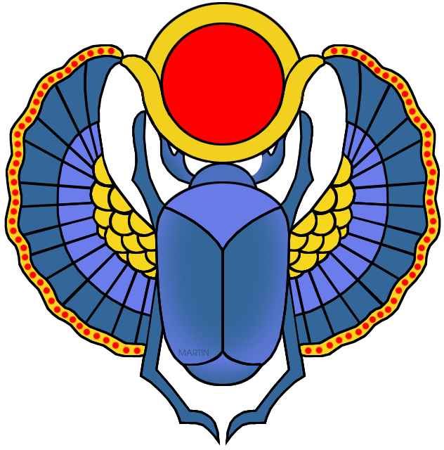 632x640 Ancient Egypt Clip Art By Phillip Martin, Scarab
