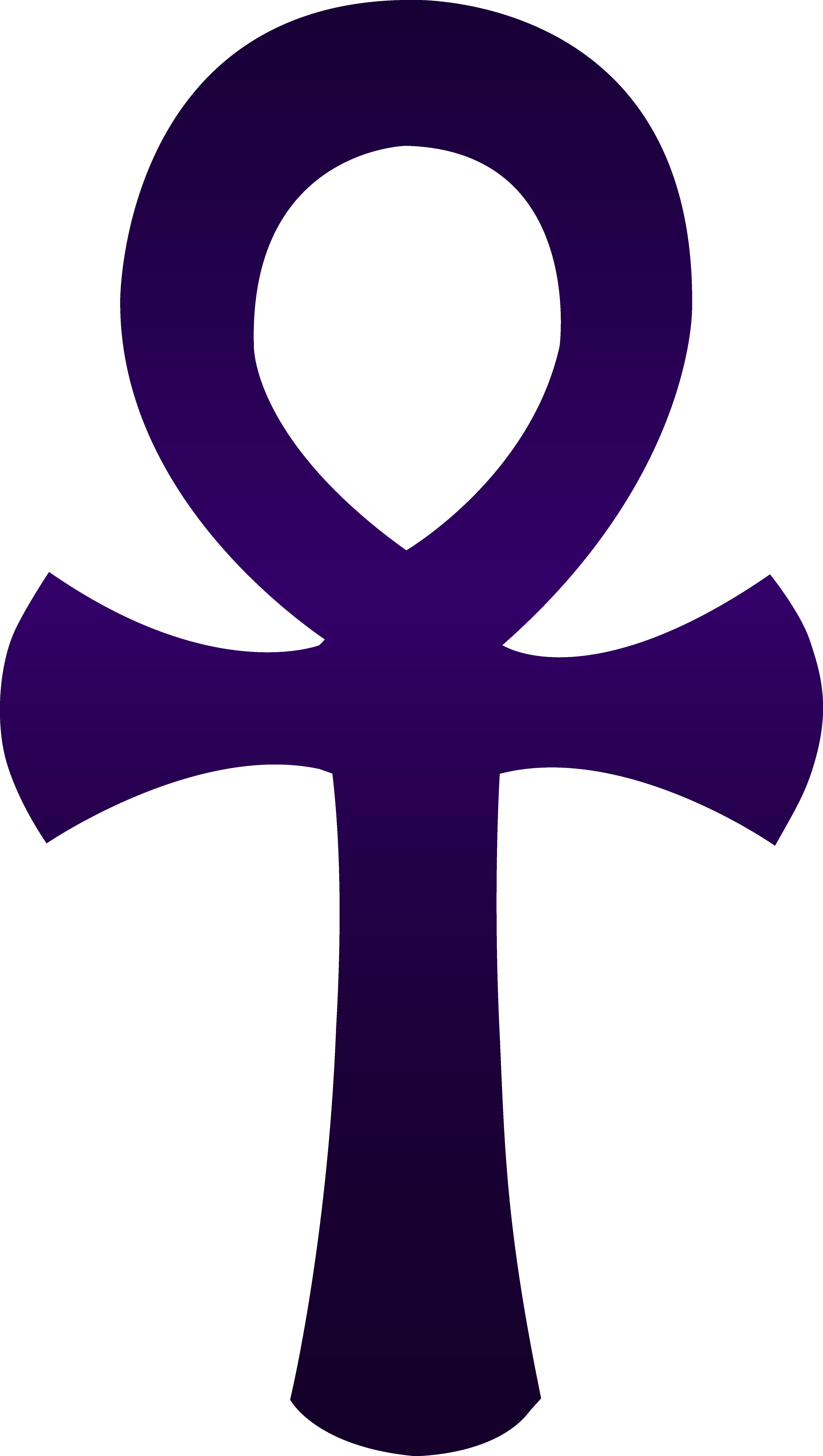 4610x8162 Ankh Violet Clip Art