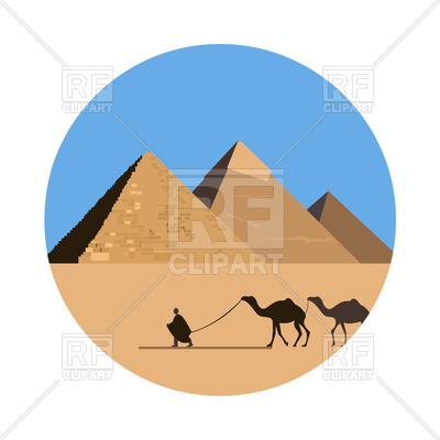400x400 Egypt Pyramid Icon With Camelcade
