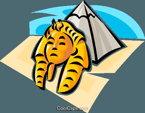 480x373 Egyptian Pyramids Royalty Free Vector Clip Art Illustration