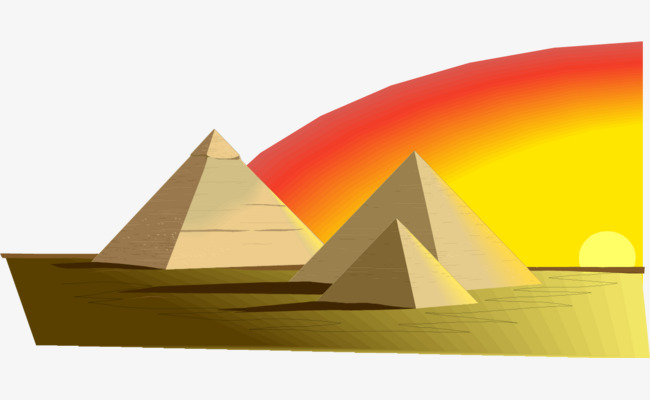 650x400 Vector Hand Painted Egyptian Pyramid, Vector, Hand Painted