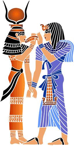 256x500 Egyptian Queen Clipart Stencil