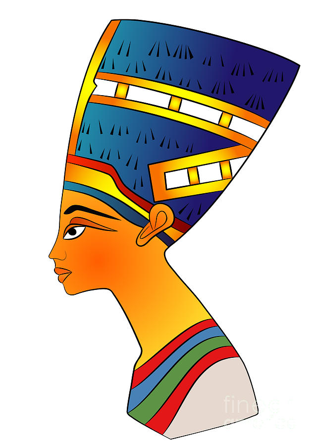 636x900 Queen Of Ancient Egypt Digital Art By Michal Boubin