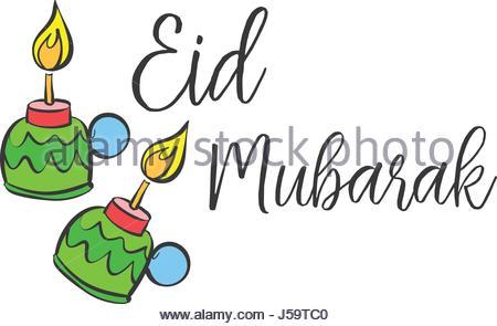450x295 Happy Eid Mubarak Celebration Collection Stock Vector Art