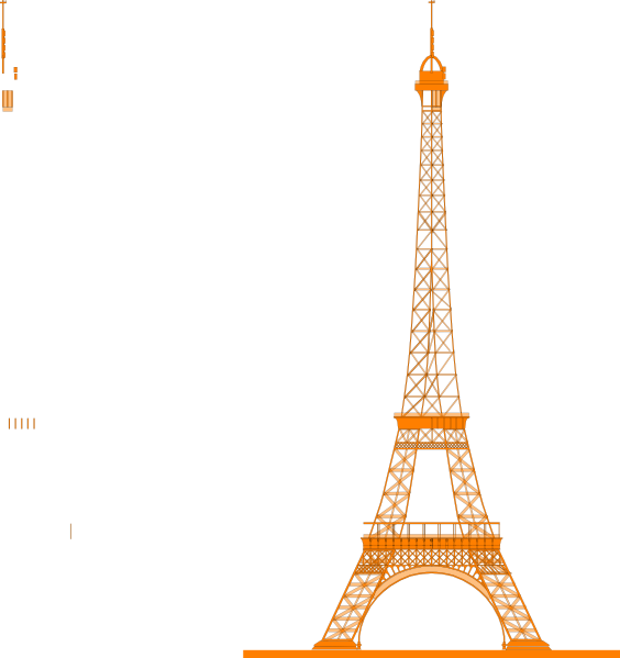 564x599 La Tour Eiffel (Eiffel Tower) Clip Art