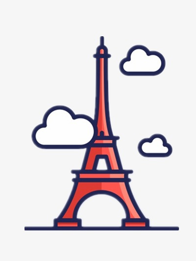 400x533 Eiffel Tower, Cartoon Pictures, Red, Illustration Png Image