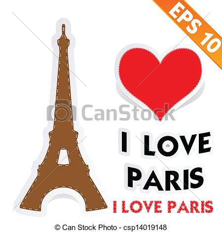 450x470 Eiffel Tower With Stitch Style Background