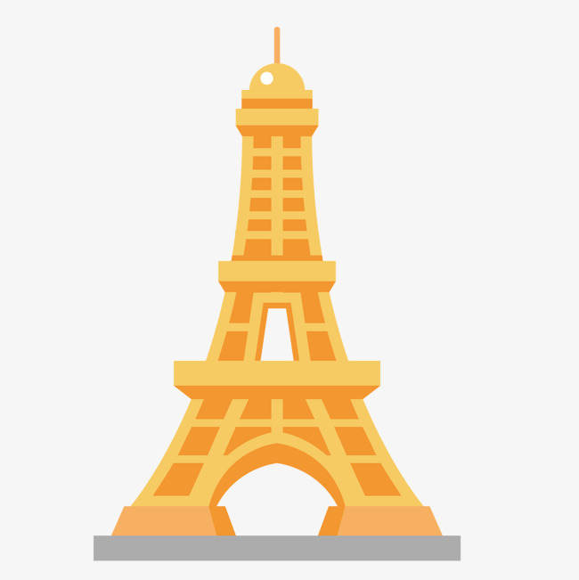 650x651 Golden Eiffel Tower, Golden, Metal, Vector Diagram Png And Vector